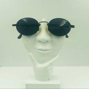 Vintage Chesterfield Black Oval Sunglasses Frames